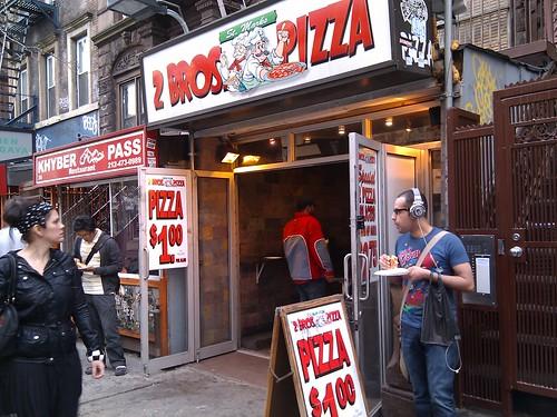 2 Bros Pizza. 1 dollar slices