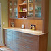 Cherry Kitchen Hutch with Curly Maple Counter