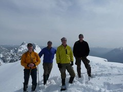 "Our ""companions"" on the summit of West Peak"