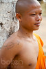 Monk with a tattooed heart | Kandal Province, Cambodia