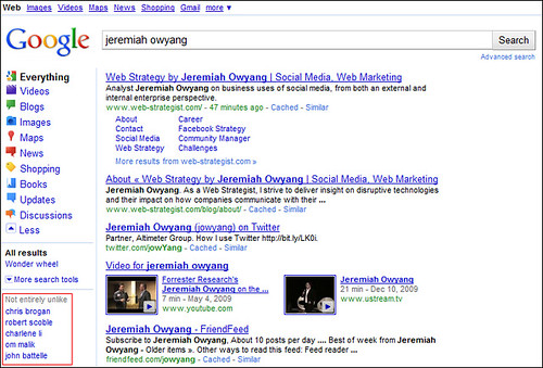 Jeremiah Owyang SERP - New Google Design