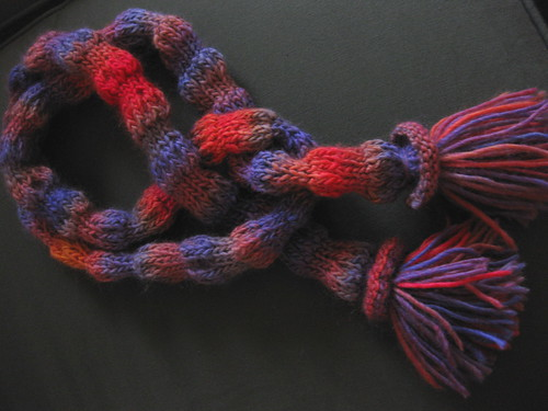 A silly little scarf called Bubbles
