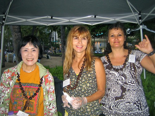 Kazu, Donna, and Ida serving at Easter Sunrise Service