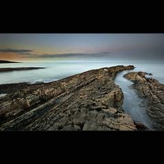 Howick Scar (Reed Ingram Weir) Tags: longexposure sunset seascape water rock coast nikon curve scar howick nortumberland 1424mmf28g softcloud reedingramweir diyxprofilterholder leelargefilters