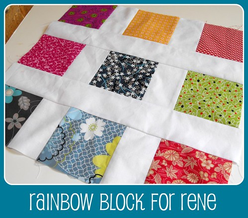 Rainbow block for Rene - Michele