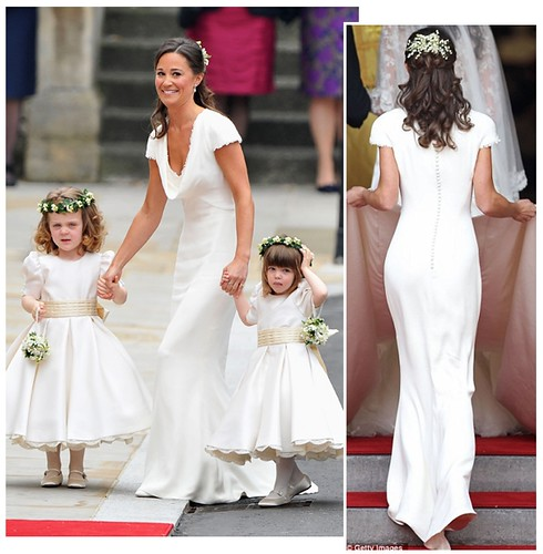 Pippa Middleton as maid of honor at her sister's wedding
