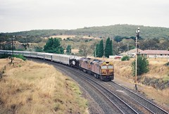 045-07 1991-01-05 8012 and 8020 on SW-1 at North Goulburn (gunzel412) Tags: geotagged australia newsouthwales aus goulburn geo:lat=3474614391 geo:lon=14974335194