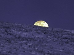 IMG_0894s (savillent) Tags: moon lunar penumbral earth shadow landscape sky snow ice arctic north climate photography canon point shoot camera tuktoyaktuk northwest territories canada astrology february 2017