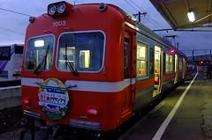 Gakunan train (T.Machi) Tags: japan gakunan fuji transportation rail railway local orange fujifilm xf1
