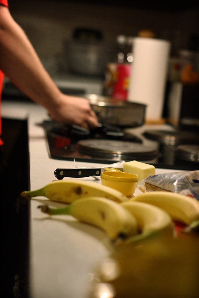 bananas foster : preperation stage