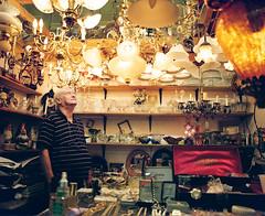 A stranger, Flea market (Benoit.P) Tags: portrait canada man color art mamiya film montral benoit mtl quebec kodak 6x7 portra collector paille rb67 400vc