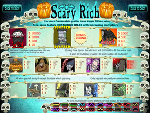 free Scary Rich slot mini symbol
