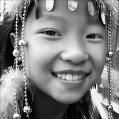 I am Black Hmong from Sapa (NaPix -- (Time out)) Tags: portrait bw nature girl smile face closeup kids mouth square nose happy freedom eyes asia natural decoration culture free vietnam jewelery simple sapa hmong nomakeup 500x500 flickrsbest noexplore napix