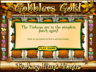free Gobblers Gold slot bonus game