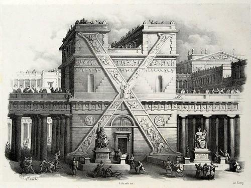 022-Letra X-Alfabeto pittorico- Antonio Basoli 1839-© Accademia di Belle Arti di Bologna