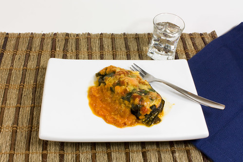 Turkey Cheddar and Kale Stuffed Collard Leaves