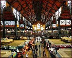 Great Market Hall (Kzponti Vsrcsarnok) (jackfre2 (on a trip-voyage-reis-reise)) Tags: sunlight fish vegetables fruit cheese hall colorful hungary market steel crafts budapest columns arts large structure meat butter covered poultry restored renovation breathtaking pest stalls stands fishmongers vendors traders zsolnay retailers greatmarkethall wholesalers gamemeat breathtakinggoldaward breathtakinghalloffame ironsymphony