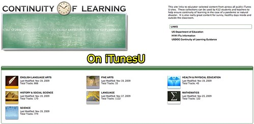 Continuity of Learning on iTunesU