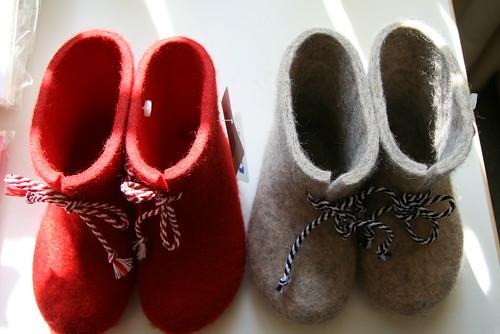 手工家用羊毛鞋