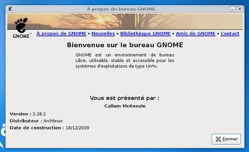 gnome 2.28.2 sur Archlinux