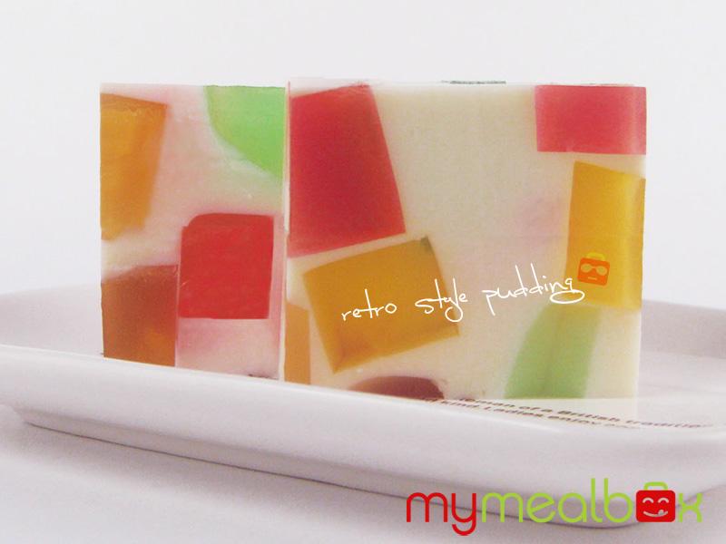 Retro style pudding