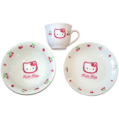 Hello Kitty Strawberry Morning Set (pkoceres) Tags: cup kitchen japan ceramic strawberry hellokitty plate bowl sanrio mug tableware dishware       boughtonebay     hellokittystrawberry