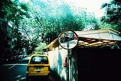 (N@ncyLee) Tags: road street light sunshine self xpro alley shot kodak taiwan snap land protrait taipei 100 elitechrome mirrow vivtar