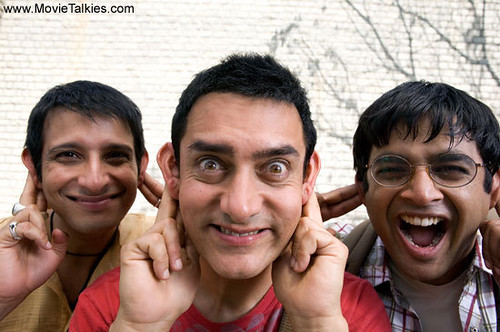 Sharman Joshi, Aamir Khan and R. Madhavan