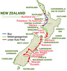 New Zealand - unsere Route