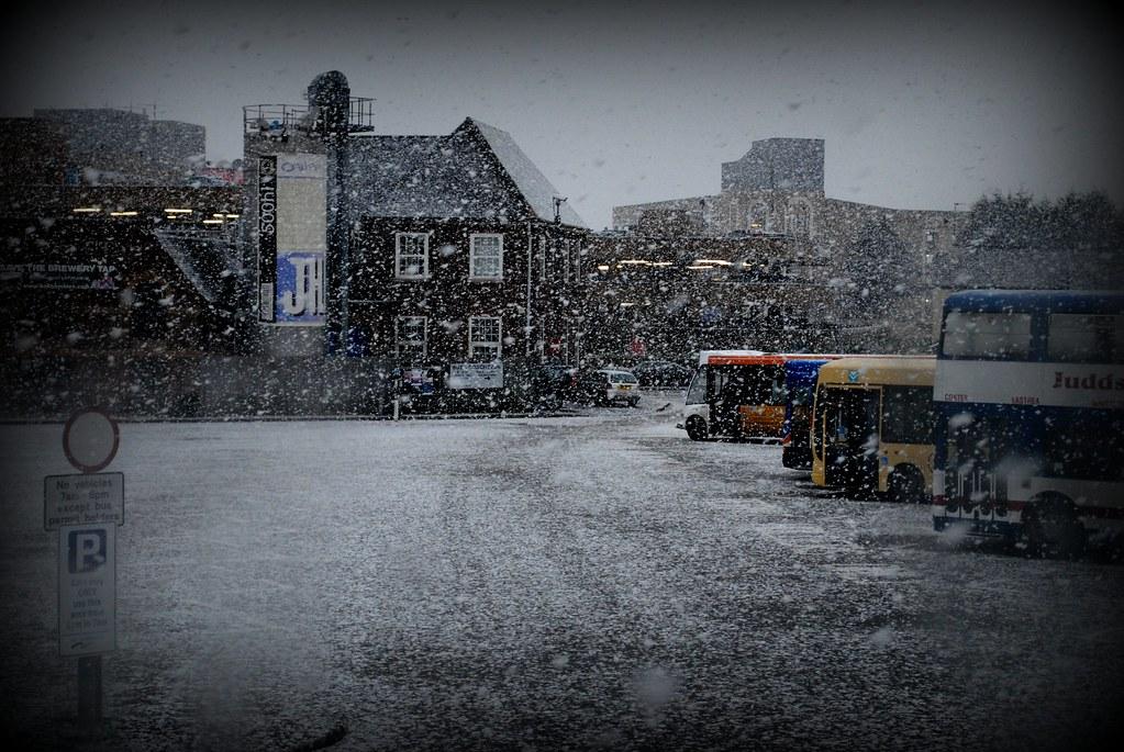 A two o'clock snowstorm