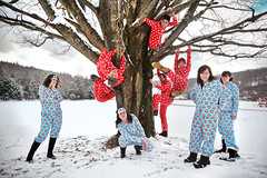 arctic monkeys (sgoralnick) Tags: winter friends ny farmhouse outside upstate upstateny monkeys newyears paulfrank pajamas partyhouse flannelpajamas matchingpajamas monkeyprint