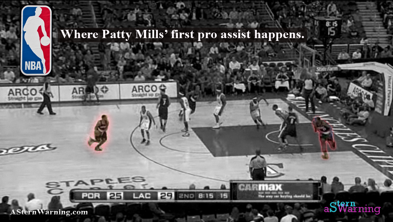 Patty Mills -- first ever NBA assist