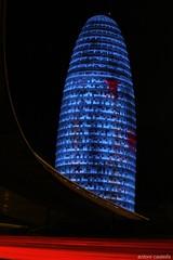 torre agbar III (antoni63) Tags: barcelona espaa tower noche arquitectura edificios neon torre sony catalonia fotos catalunya wallpapers torreagbar agbar nocturno neones dscr1 fotospanormicas