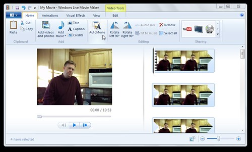 Auto Movie feature in Windows Live Moviemaker