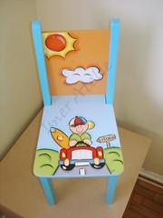 cadeirinha menininho no carrinho (Imer atelie) Tags: verde sol azul surf minas laranja artesanato estrada nuvem decoração placa menino carrinho pintura mdf uberaba menininho pintadoámão caderinha imeratelie