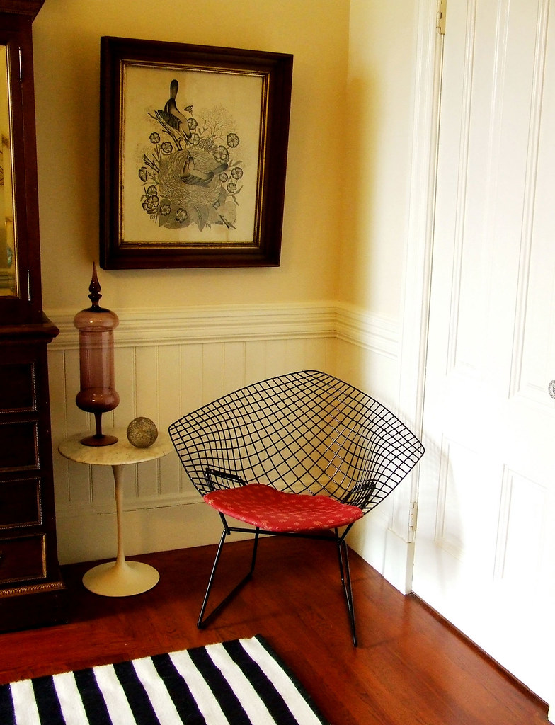 Sam's House Tour for Apartment Therapy - Bertoia wire chair
