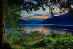 Etnefjorden (Jarle Swahn) Tags: ocean sunset summer mountains water forest landscape woods fjord etne osnes canoneos450d etnefjorden jarleswahn