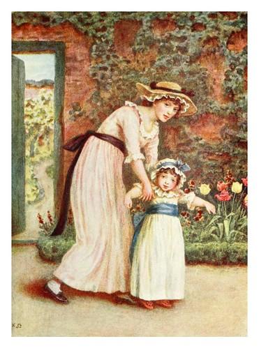 024- Una joven y una niña en un jardin-Kate Greenaway 1905- Marion Spielmann y George Layard