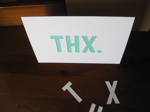 THX. Die-Cut Stationery