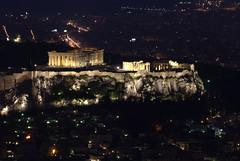 The Ancients (berta devant) Tags: monument night ancient nikon berta athens parthenon mount greece vision partenon acropolis devant greeks lycabettus d80