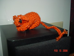 Knitted Gerbil (gerbilgal) Tags: gerbil knit knitted