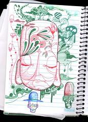 REGISTRO DA IDEIA 2 (.  F L F  .) Tags: art peace buddha monk tibet meditation desenho grafite rascunho franciscofreitas