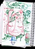 REGISTRO DA IDEIA 2 (. ♦ F L F ♦ .) Tags: art peace buddha monk tibet meditation desenho grafite rascunho franciscofreitas