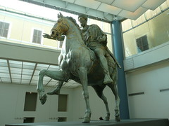 Estatua ecuestre de Marco Aurelio. Museos Capitolinos. Roma