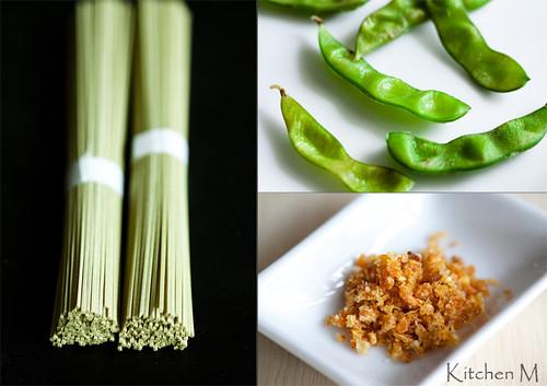 Green Tea Soba, Edamame, Tangerine Salt