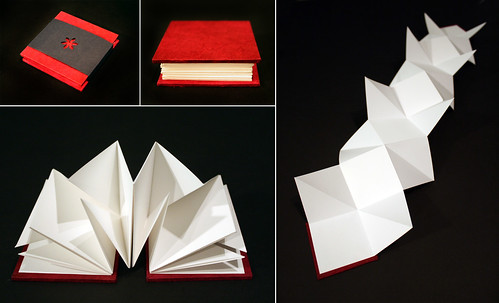 Small accordion book