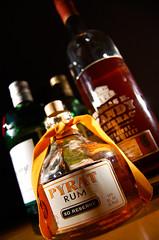 Stash (RLHyde) Tags: handy bottle nikon bottles cork caps sb600 cap alcohol whisky ribbon rum gin pyrat 80proof strobist nikond40 pyratrum