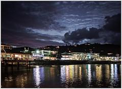 35° South Latitude (glness) Tags: sunset newzealand night reflections evening coast pacific wharf northisland bayofislands twighlight paihia southernhemisphere canonef24mmf14lii canon5dmarkii gregness