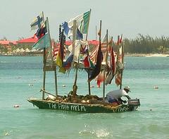 The Fruit man (kenziko) Tags: sea beach fruit boat flag carribean banana pineapple mango melon stlucia fruitman