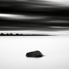 Dot (p i c a) Tags: longexposure sea cloud seascape water rock skne seaside sweden balticsea sten penninsula hav stersjn resund ndfilter bwnd110